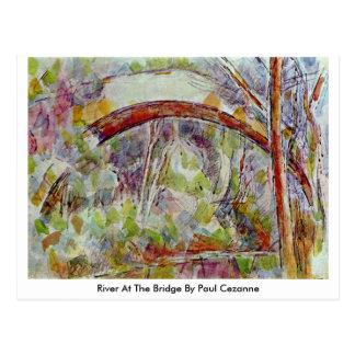 Fluss an der Brücke durch Paul Cezanne Postkarte