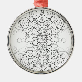 Fluss der Zeit Silbernes Ornament