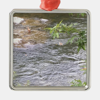 Fluss-Enten Silbernes Ornament