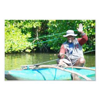 Fluss-Fischer Fotodruck