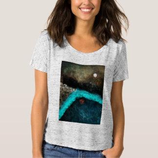 Fluss-gerade zurückgehen T-Shirt