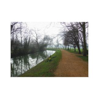Fluss in Oxford Leinwanddruck