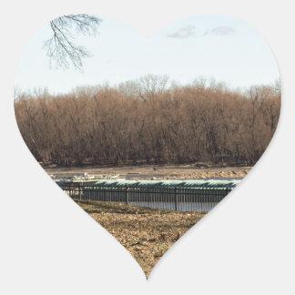 Fluss-Leben Herz-Aufkleber