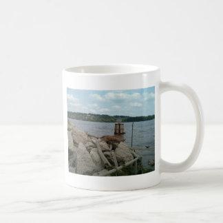 Fluss Mississipi am Hafen von Dubuque Kaffeetasse