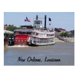 Fluss Mississipi-Boot New Orleans Louisiana Postkarte