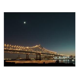 Fluss Mississipi nachts im Großen einfachen Postkarte