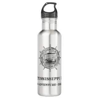 Fluss Mississipi. Reisen. Abenteuer. Entdeckungen Trinkflasche