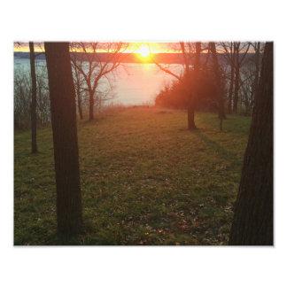Fluss Mississipi-Sonnenuntergang Fotodruck