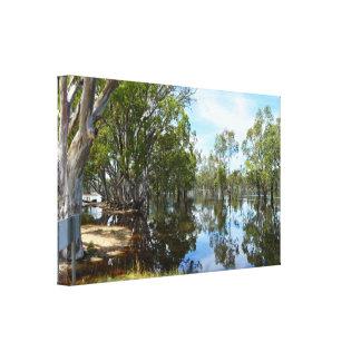 Fluss Murray, als die Fluten kamen, Leinwanddruck