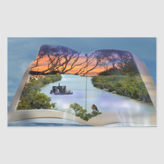 Fluss Murray, Seite in einem Buch, Rechteckiger Aufkleber
