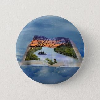 Fluss Murray, Seite in einem Buch, Runder Button 5,1 Cm