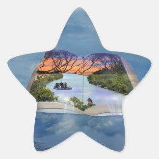 Fluss Murray, Seite in einem Buch, Stern-Aufkleber