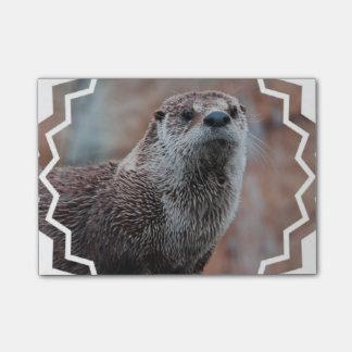 Fluss-Otter Post-it Klebezettel