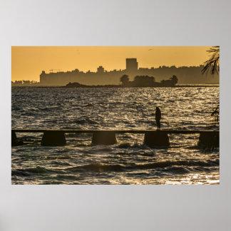 Fluss-Plattierer-Fluss-Szene in Montevideo Poster
