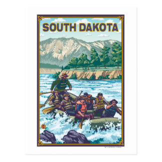 Fluss RaftingSouth Dakota Postkarte