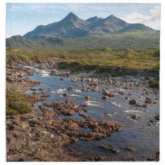 Fluss Sligachan, Insel von Skye, Schottland Stoffserviette