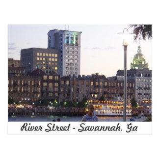 Fluss-Straße - Savanne, Georgia Postkarte