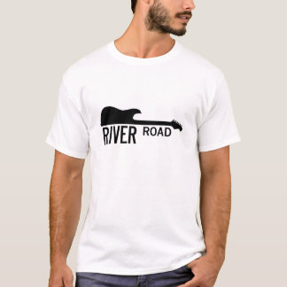 Fluss-Straße - weißes großes Logo T-Shirt