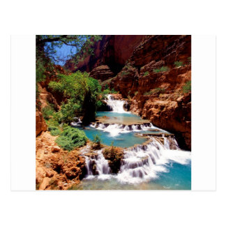 Fluss-Travertin vereinigt Havasu Schlucht Postkarte