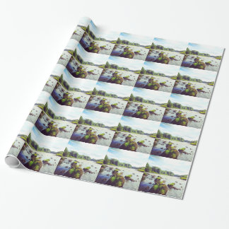 Fluss-Tweed Geschenkpapier