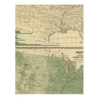 Flusseinzugsgebiete, Forstwirtschaft Postkarte