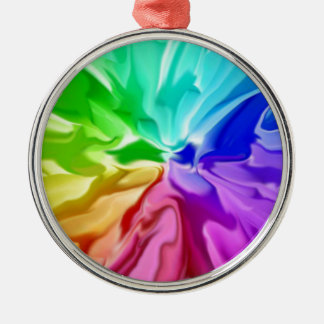 Flüssige Farbe Silbernes Ornament