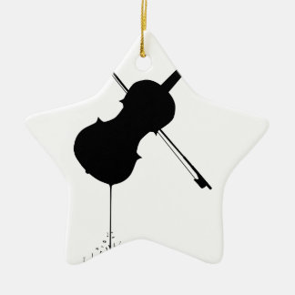 Flüssige Geigen-Musik Keramik Ornament