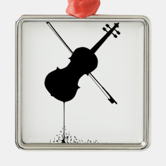 Flüssige Geigen-Musik Silbernes Ornament
