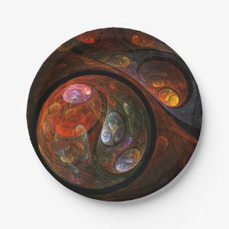 Flüssige Verbindungs-abstrakte Kunst Pappteller