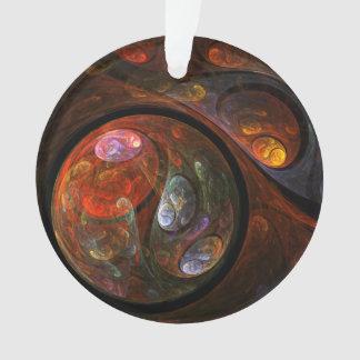 Flüssige Verbindungs-abstrakter Kunst-Acryl-Kreis Ornament