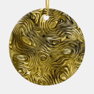 """Flüssiger """"Gold"""" Druck-Verzierungskreis Rundes Keramik Ornament"""