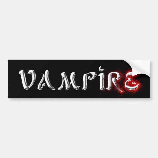 Flüssiger silberner Vampir gotisch Autosticker