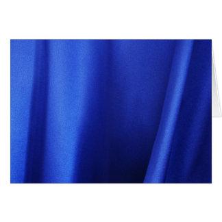 Flüssiges blaues Silk Gewebe abstrakt Karte