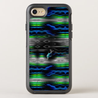 Flüssiges Erschütterungs-Delphin-Neon OtterBox Symmetry iPhone 8/7 Hülle