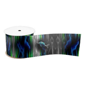 Flüssiges Erschütterungs-Delphin-Neon Satinband