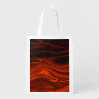 Flüssiges Feuer durch Shirley Taylor Wiederverwendbare Einkaufstasche