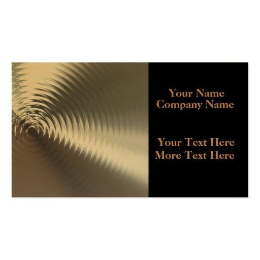 Flüssiges Gold plätschert Visitenkarten