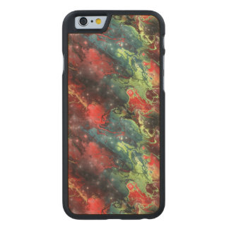 Flüssiges Metall Carved® iPhone 6 Hülle Ahorn