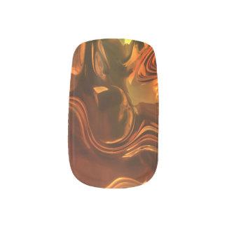 Flüssiges Metallabstrakter Entwurf Minx Nagelkunst