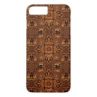Flüssiges MetallKaleidoskop-Muster Browns iPhone 8 Plus/7 Plus Hülle