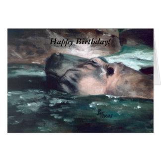 Flusspferd, alles Gute zum Geburtstag! Karte