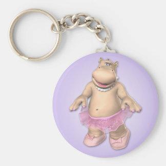 Flusspferd-Ballettröckchen Keychain Schlüsselanhänger