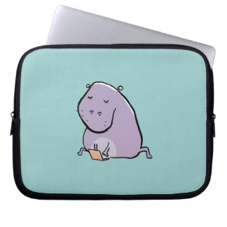 Flusspferd (beschäftigt) laptop schutzhülle