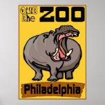 Flusspferd: Besuchs-Zoo Philadelphia Plakate