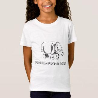 Flusspferd, Bleistifttopf-ein mus T-Shirt