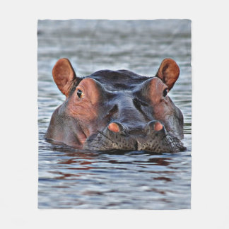 Flusspferd Fleecedecke