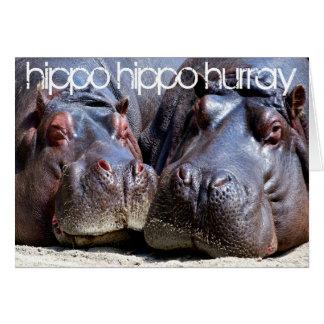 Flusspferd-Flusspferd Hurray Karte
