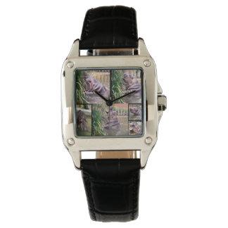 Flusspferd-Foto-Collage, Uhr