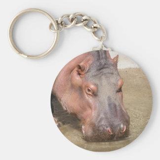 Flusspferd-Gesicht Keychain Schlüsselanhänger