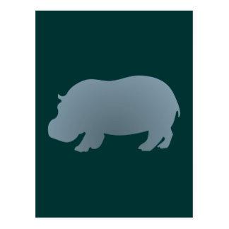 Flusspferd hippo hippopotamus postkarte